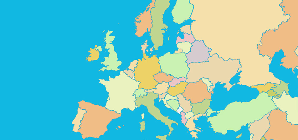Countries of Europe - Map Quiz Game