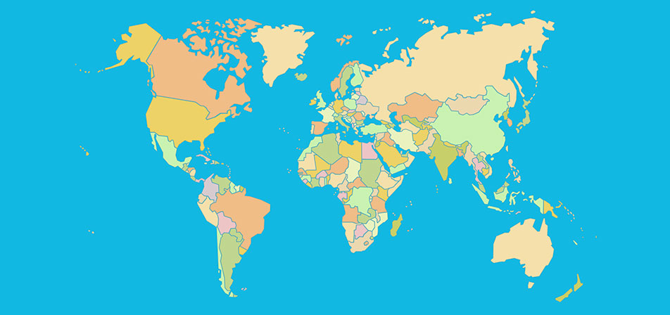 Map Of Countries In The World.Countries Of The World Map Quiz Game