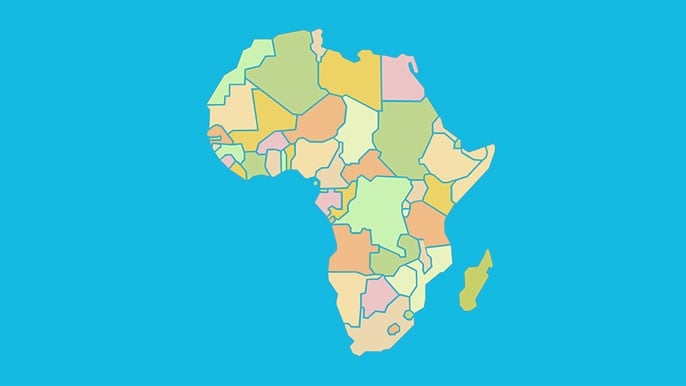 Countries of Africa - Map Quiz Game