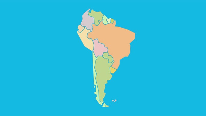 Capitals of South America - Map Quiz Game