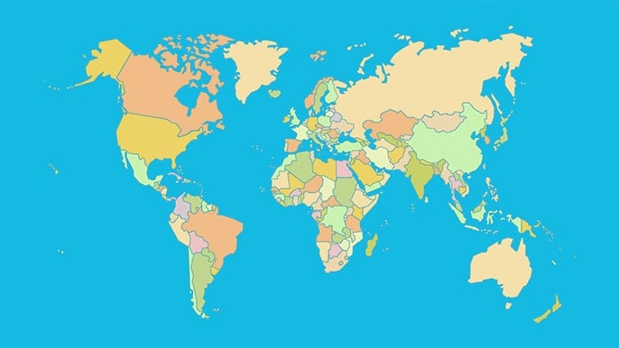 Countries of the World - Map Quiz Game